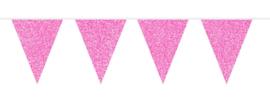 Vlaggenlijn glitter pink