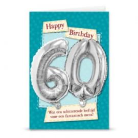 Leeftijd ballonnen kaart 60 jaar