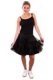 Petticoat dubbel laags zwart