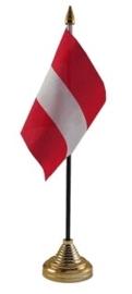 Tafelvlag Oostenrijk zwart