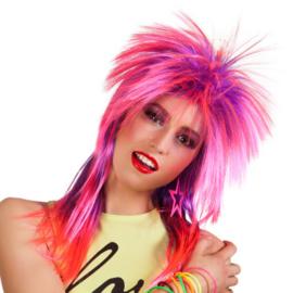 Pruik punker pink   kimberley