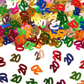 Tafeldecoratie / sier confetti 20 jaar
