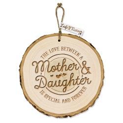 Boomschijf decoratie - Mother & Daughter  
