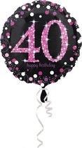 Folieballon HBD sparkling pink 40 (45cm)