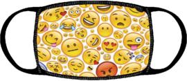 Kinder Mondkapje met emoticon | emoji print | wasbaar