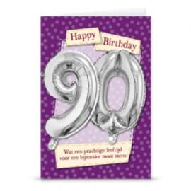 Leeftijd ballonnen kaart 90 jaar