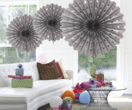 Honeycomb fan zilver