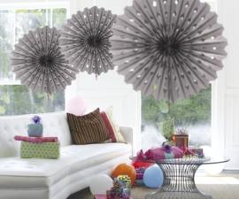 Honeycomb fan zilver