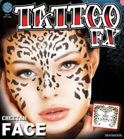 Face Tattoo cheetah