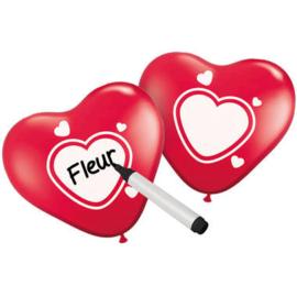 Beschrijfbare ballonnen hart