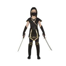 Ninja negro jurkje meisje