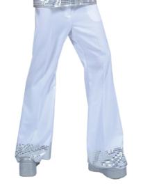 Disco broek glitter wit