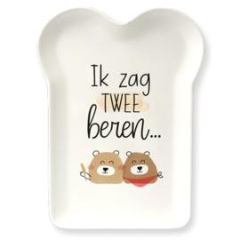 Bamboe Bordje - Twee Beren | cadeautje