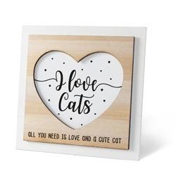 Houten Fotolijstje - Cat  