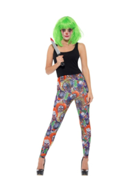 Creepy clown legging
