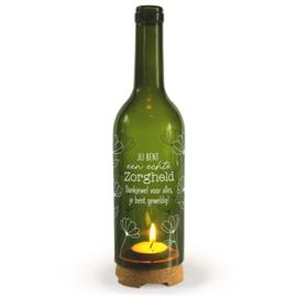 Wine Candle -  Zorgheld | Wijnfles decoratie