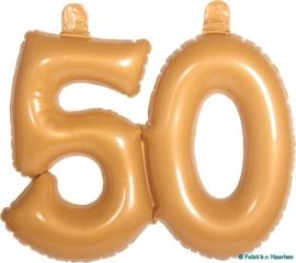 Opblaas 50 - Goudkleurig
