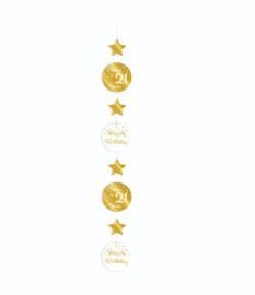 Hanging decoration gold/white - 21 | Hangdeco