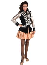 Uniform jasje roze/goud/zilver