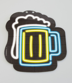 Neon bierglas teken
