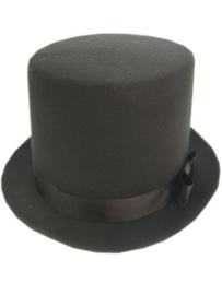 Hoge hoed zwart Deluxe