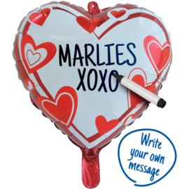 Love you folieballon beschrijfbaar