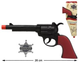Cowboy pistool met ster | 26cm