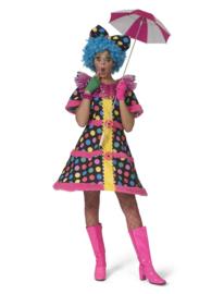 Clown jurkje Hottie Dottie | Vrolijke clowns jurkje