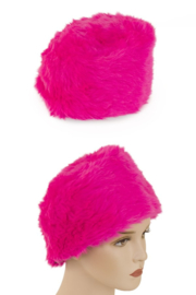 Bont muts neon pink