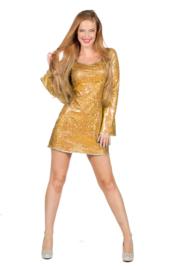 Disco jurkje elegance goud
