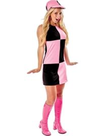 Discojurkje zwart en pink