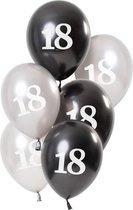 Ballonnen Glossy Black 18 Jaar