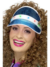 80's led cap blauw