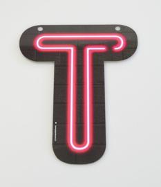 Neon letter T
