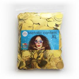 Confetti metallic rond 23mm 250 gram goud