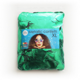 Confetti metallic rond 23mm 250 gram groen