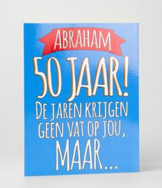 Fun suprise kaart 50 Abraham geen vat