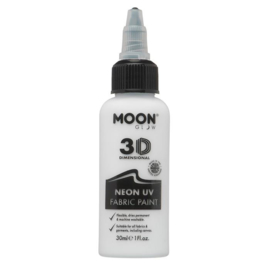 Textielverf 3D  moonglow 30 ml | Neon wit