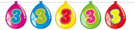 Vlaggenlijn ballonnen 3 jaar