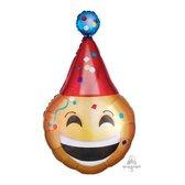 Folieballon emoticon partyhat SuperShape