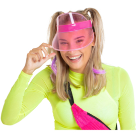 80's zonneklep neon pink