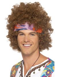 Hippie afro pruik