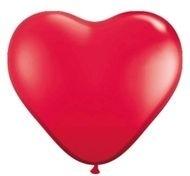 Kwaliteitsballon Hart  rood helium