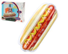 Opblaasbare hotdog luchtbed 200x80x21cm