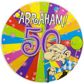 50 Jaar Abraham Knalfeest LED Party Button