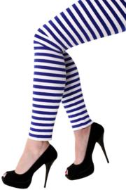 Legging blauw wit gestreept