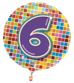 6 jaar folieballon blocks excl.