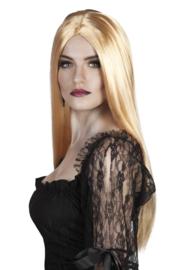 Pruik blond lang