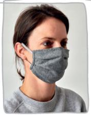Mondkapje lichtgrijs wasbaar ( 4 stuks) | 50x Herbruikbare mondmaskers