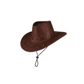 Cowboy hoed suede bruin